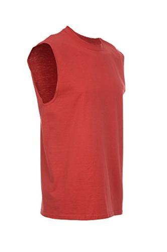 men s sleeveless tee true red 2xl
