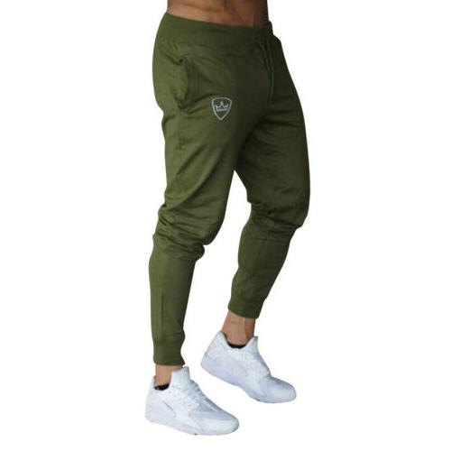 Mens Tracksuit Slim Fit Jogging Joggers Pants
