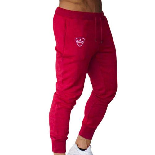 Mens Tracksuit Gym Slim Skinny Joggers Sweat Pants Trousers US