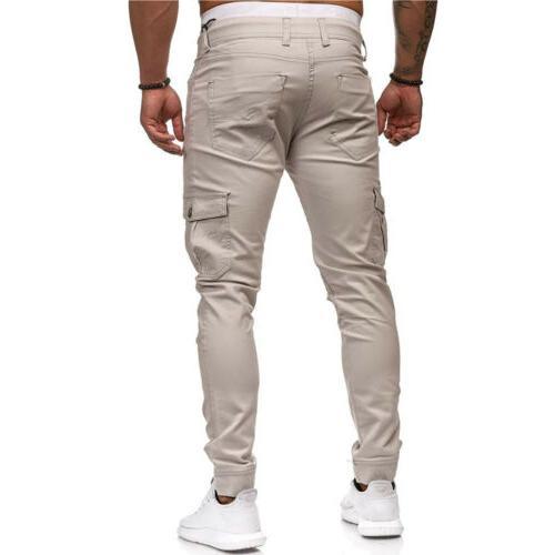 Men's Long Trousers Tracksuit Workout Joggers Sweatpants