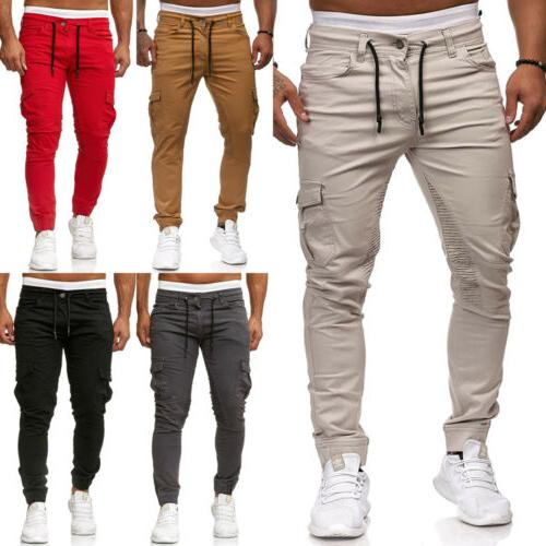 Men's Sport Pants Trousers Tracksuit Fitness Workout Joggers Gym Sweatpants