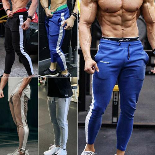 men s sports pants long trousers tracksuit