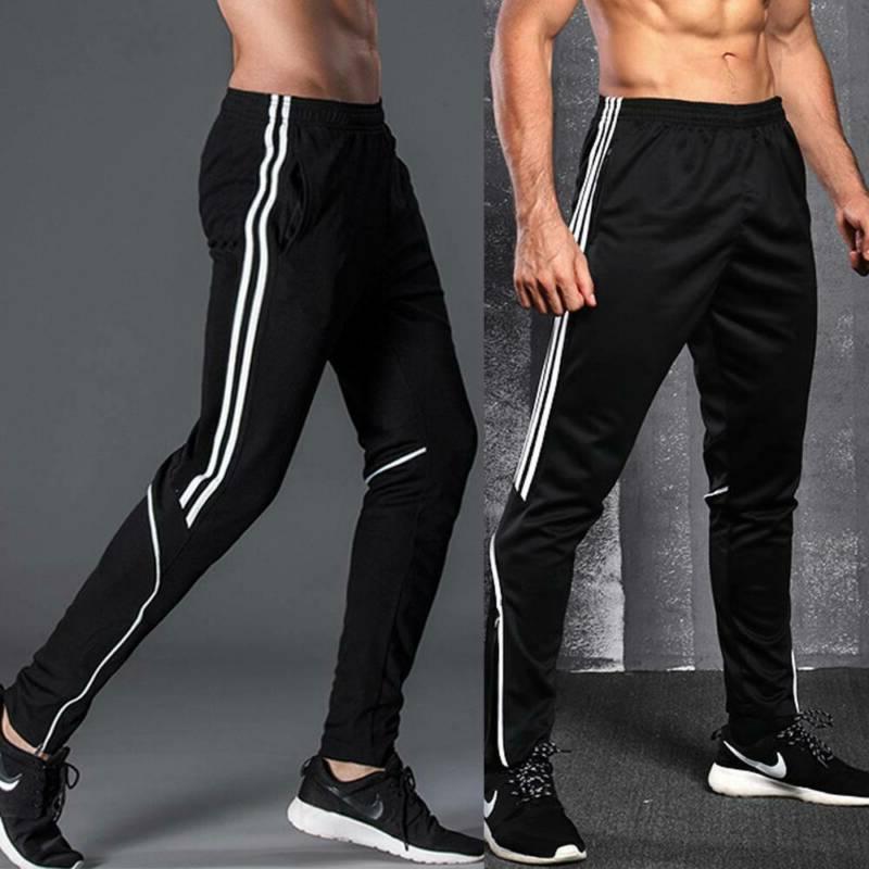 Men's Track Pants Training Zipper Pocket Joggers Trousers