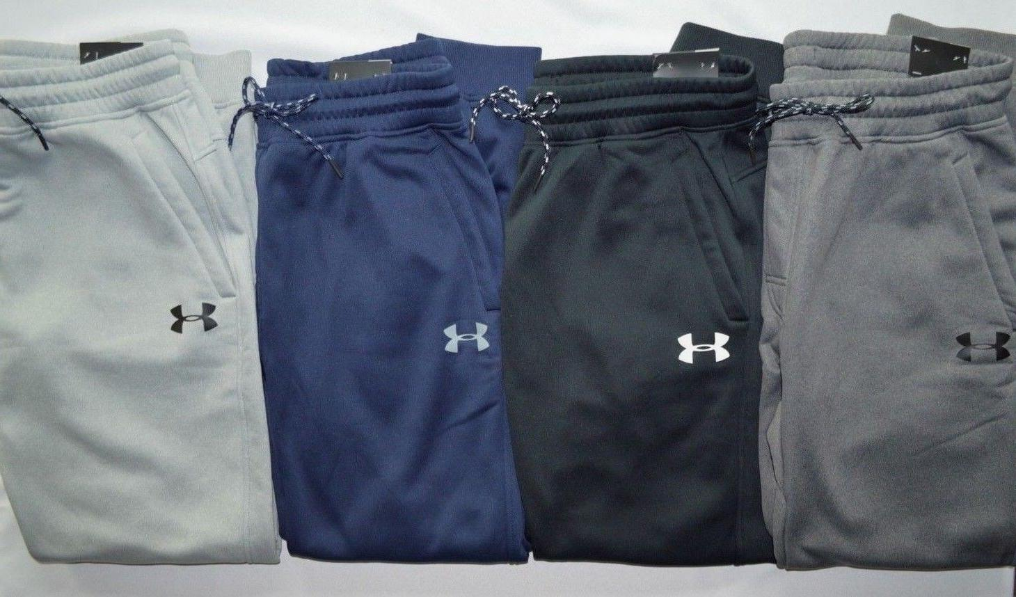 NWT Mens L Under Armour Navy Blue//Gray Athletic Cold Gear Sweat Pants Large