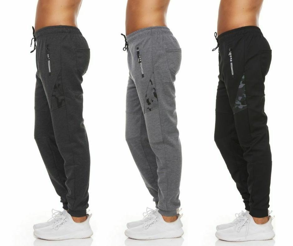 men s striped sweatpants fleece joggers