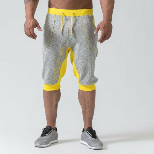 Men's Jogging Pants Casual Trousers Sport Gym Shorts