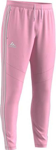 adidas Men's Tiro19 Training Pants, True Pink/White, Large