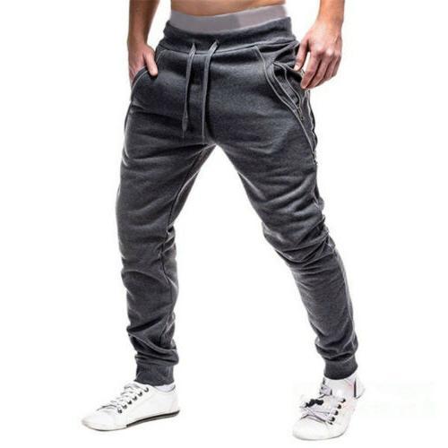 Men Long Pants Fit Running Sweatpants New