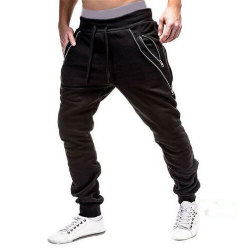 Men Long Pants Slim Fit Trousers Running New