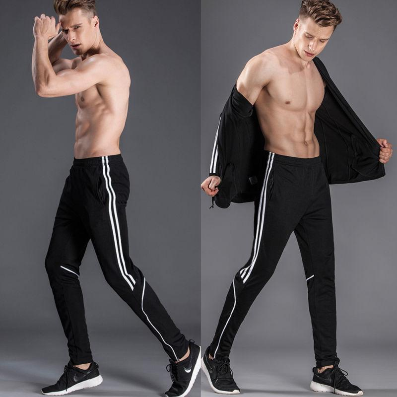 Men Sport Pants Long Trousers Pocket Joggers