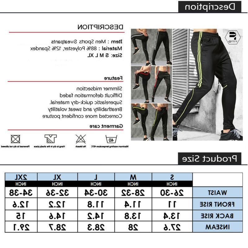 Men Sport Pants Trousers Fitness Pocket Joggers Sweatpants