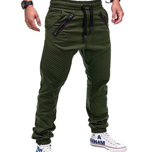 Men Trousers Harem Track Pants Sportwear Slacks M-3XL