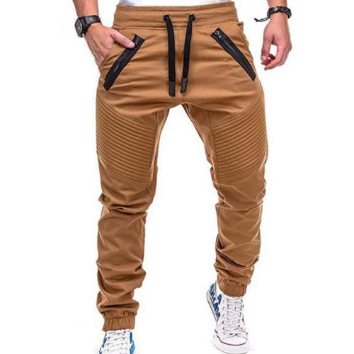 Men Trousers Casual Harem Track Joggers Sportwear M-3XL