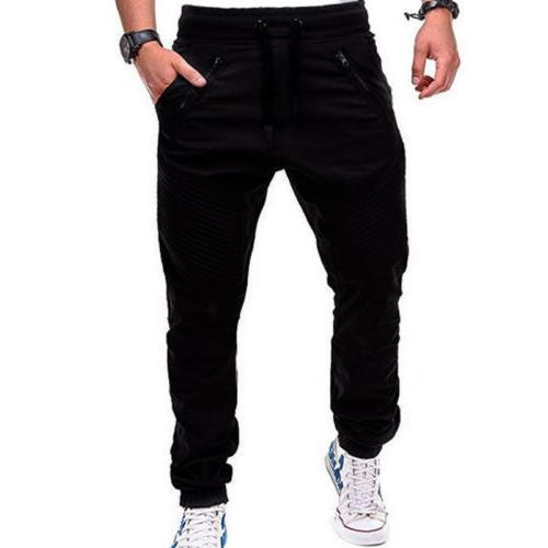 Men Trousers Casual Harem Track Joggers Sportwear Slacks
