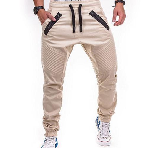 Men Harem Track Joggers Sportwear Slacks M-3XL