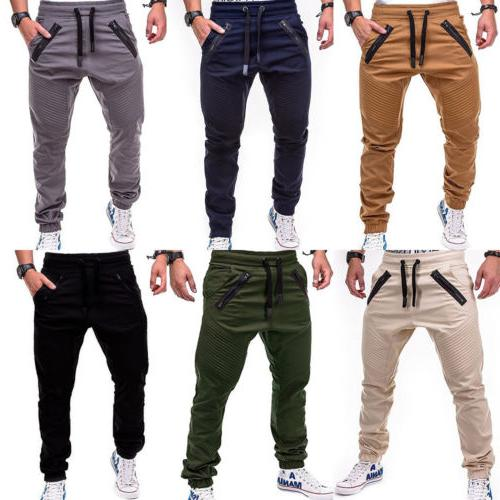 Men Trousers Casual Sweatpants Harem Pants Joggers Sportwear M-3XL