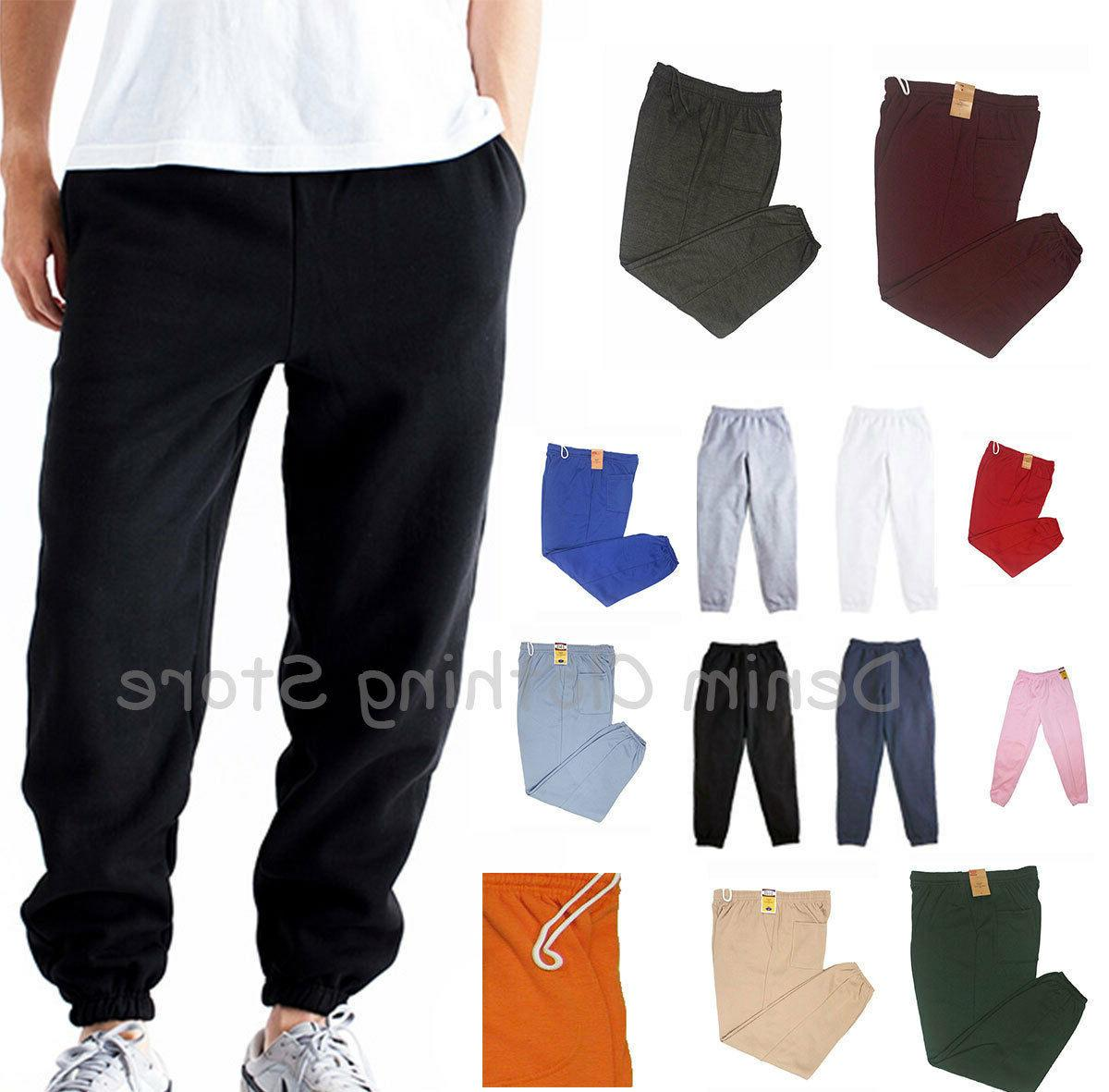 men women unisex elastic waist fleece lightweight