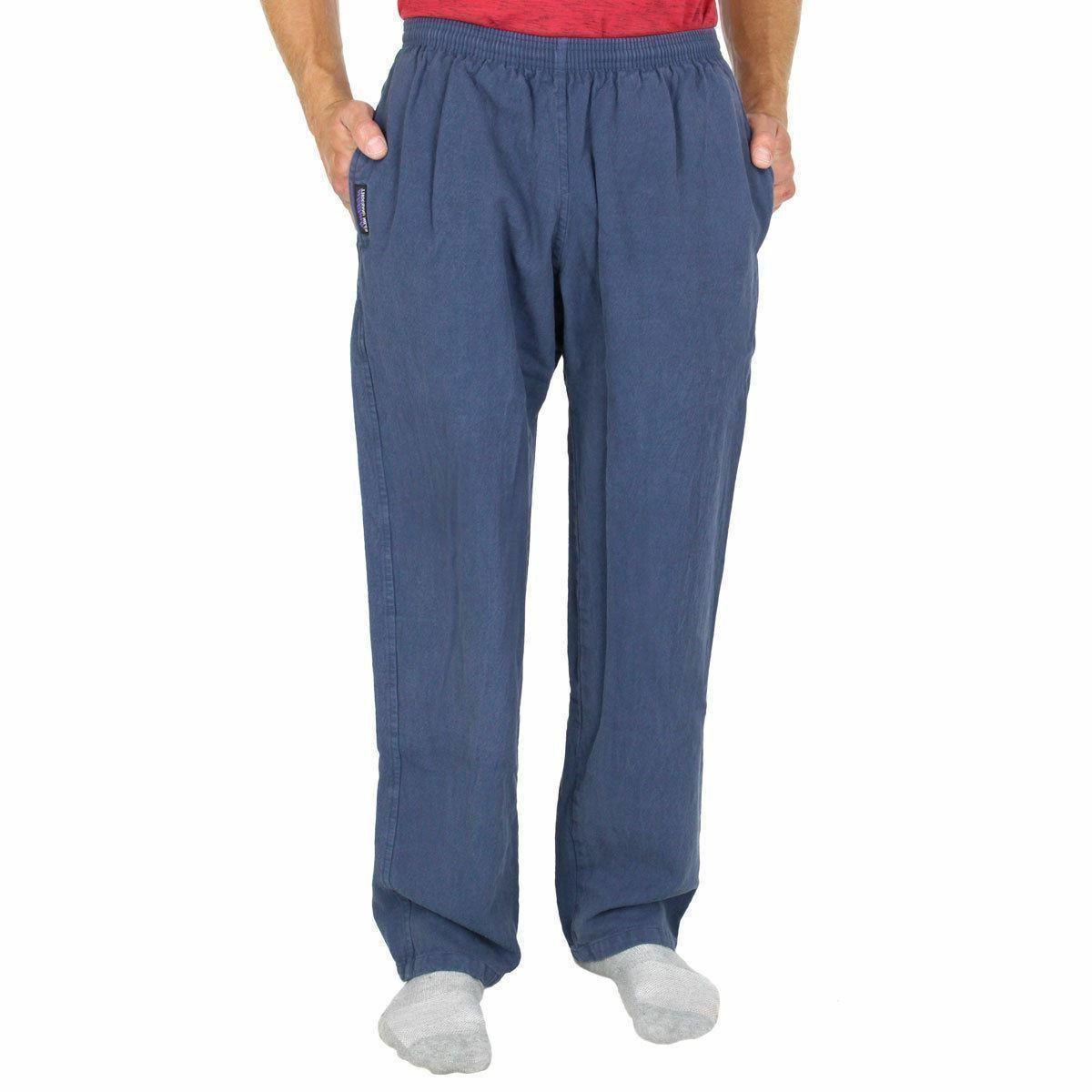 mens 100 percent cotton straight leg sweatpants