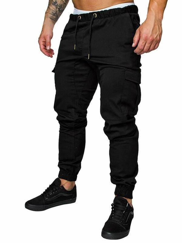 mens cargo pants slim fit casual sweatpants