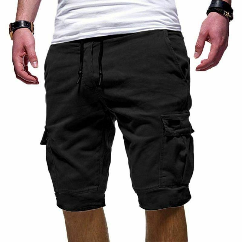Mens Shorts Pants Summer Combat Trousers Capri Sweatpant