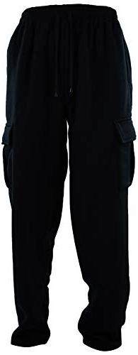 Mens Cargo Sweatpants with Drawstrings