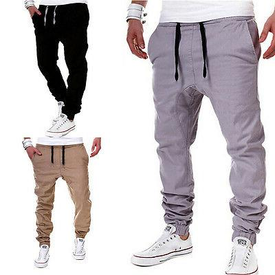 Men's Sport Pants Tracksuit Gym Workout Joggers Sweatpants Long