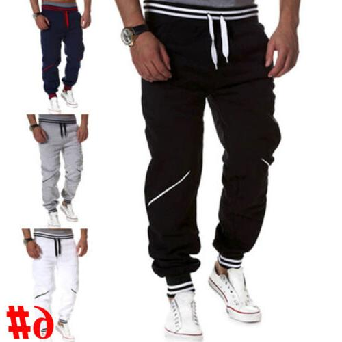 Mens Casual Sweatpants Baggy Pants Running Tracksuit Bottoms