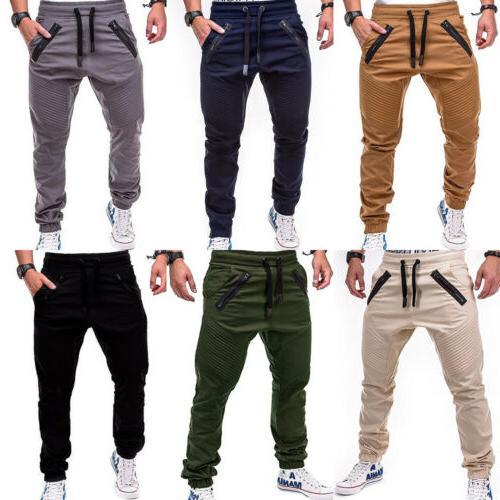 Mens Casual Trousers Joggers Cargo Sport Fitness Jogging Sweatpants