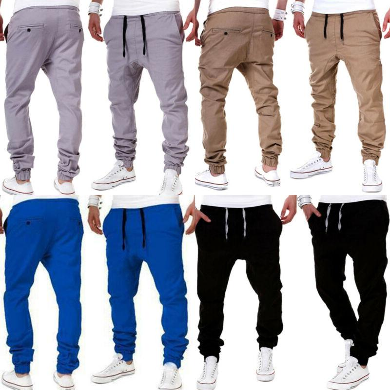 Men Casual Cargo Harem Pants Sweatpants