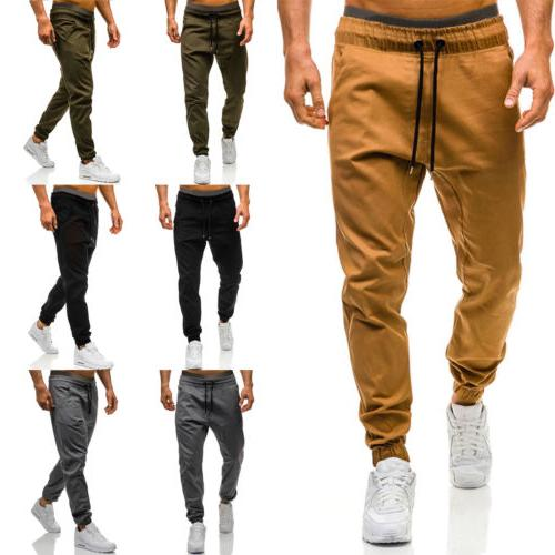 Mens Casual Trousers Jogging Sweatpants