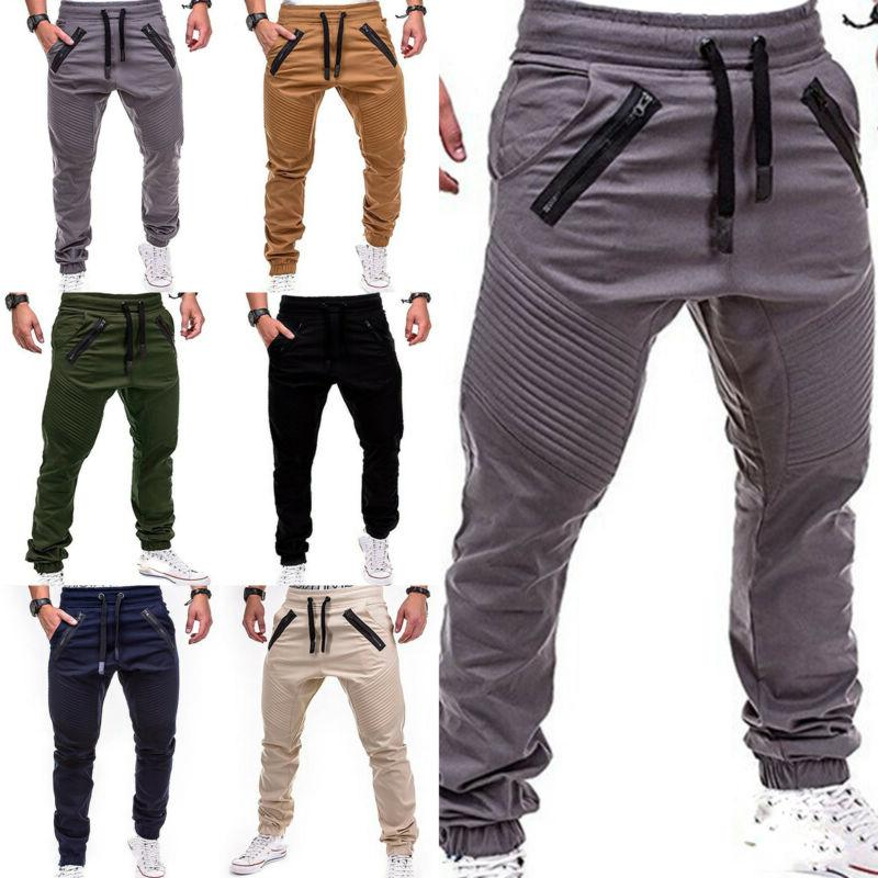 Men Trousers Casual Sweatpants Harem Track Pants Joggers Spo