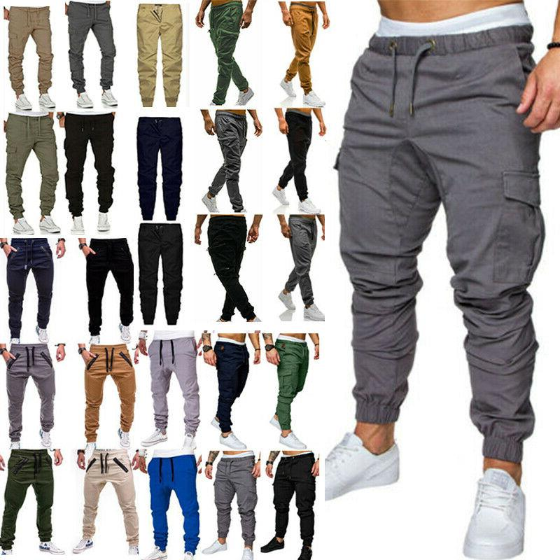 Men Casual Joggers Cargo Combat Sports Harem Pants Sweatpants
