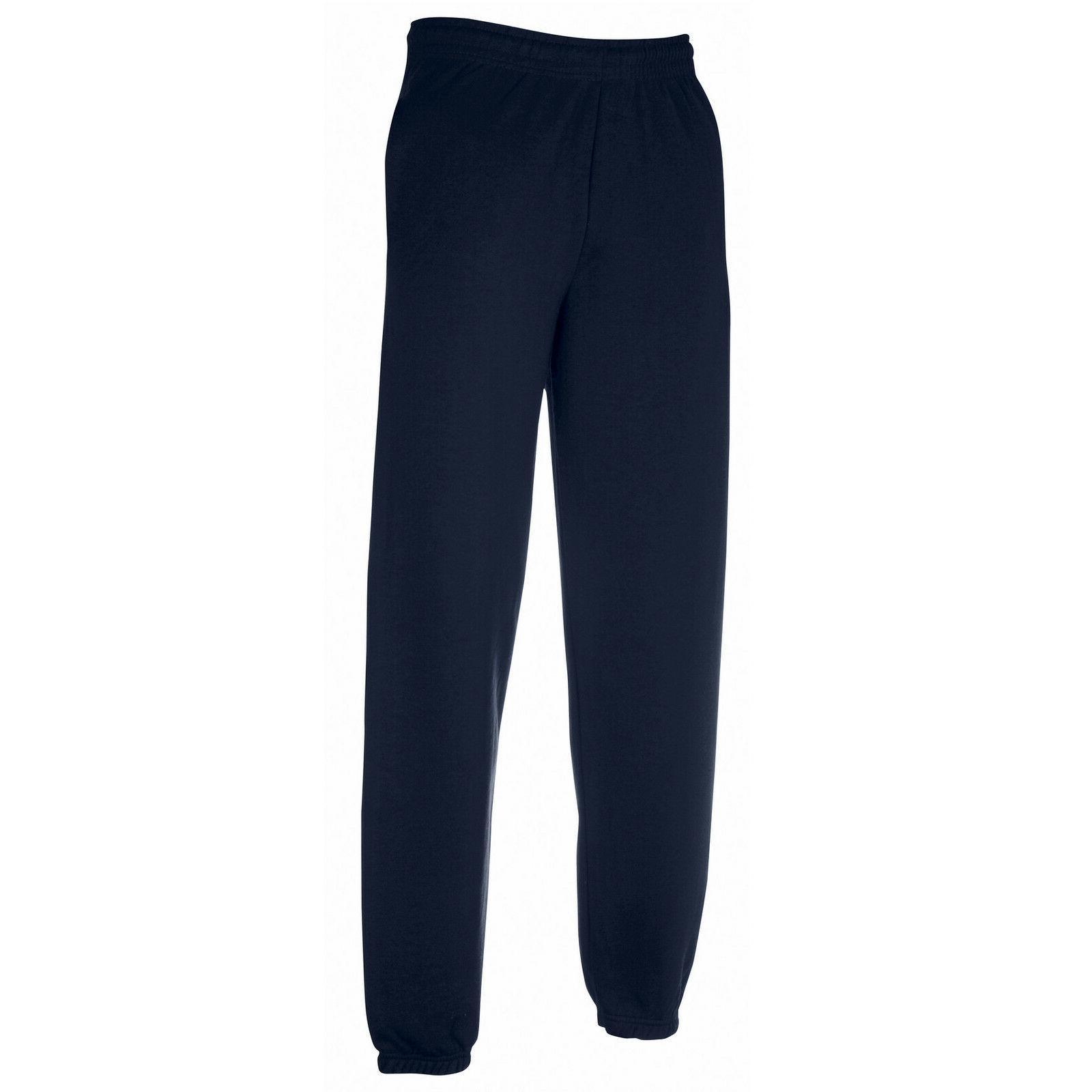 mens classic elasticated jog sweat pants trousers