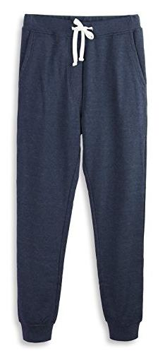 HETHCODE Mens Classic Fit Basic Fleece Closed-Bottom Pockete