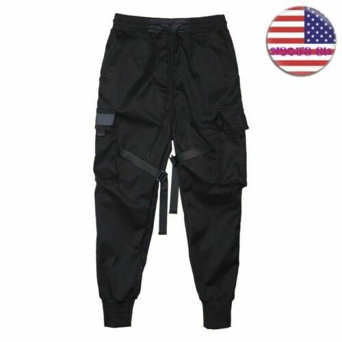 Mens Joggers Street Pants Hip Cargo Comfort Trousers