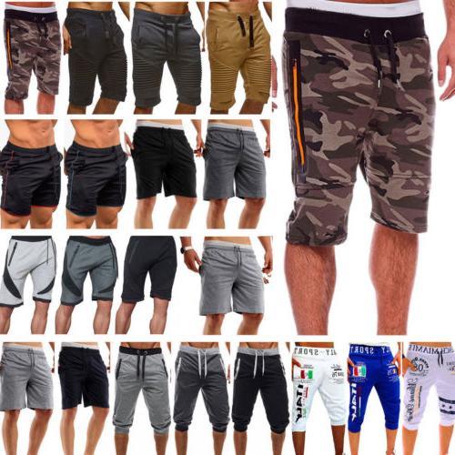 Men's Joggers Pants Training Running Casual Sport Gym Shorts