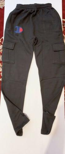 mens jogger heavy weight fleece cargo pocket
