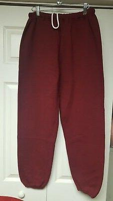 RUSSELL ATHLETIC MENS  NEW   MAROON   SWEATPANTS  XLARGE