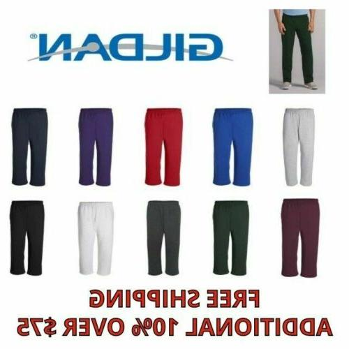 mens pants heavy blend open bottom sweatpants