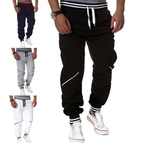 Mens Joggers Sport Gym Bottoms Fitness Trousers Casual