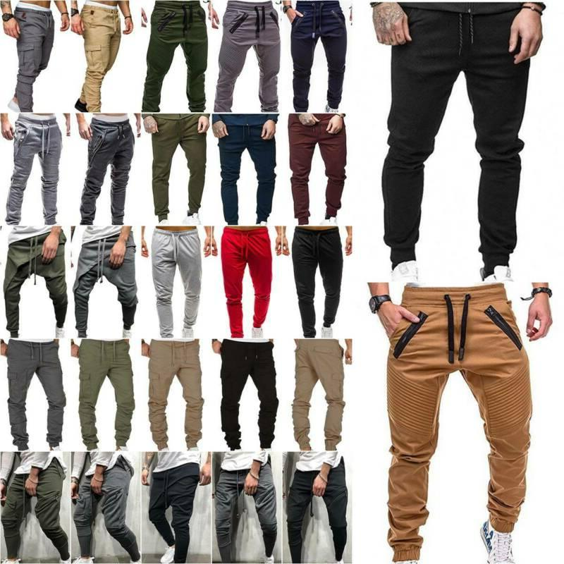 Mens Pants Sport Gym Bottoms Trousers