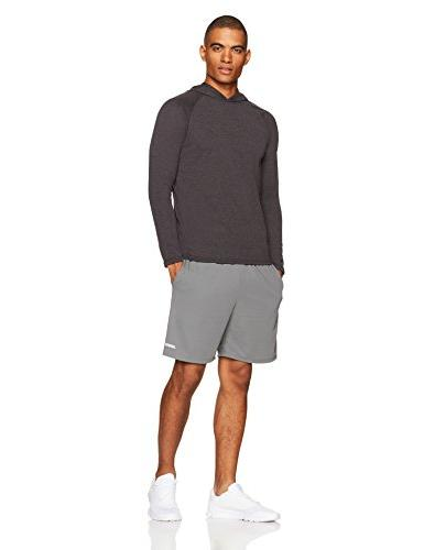 Amazon Men's Hooded Shirt, Heather, Large