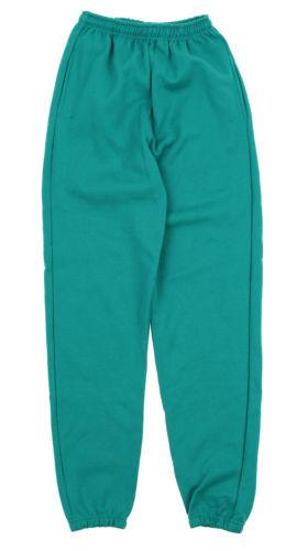 mens powerblend cotton poly sweat pants teal
