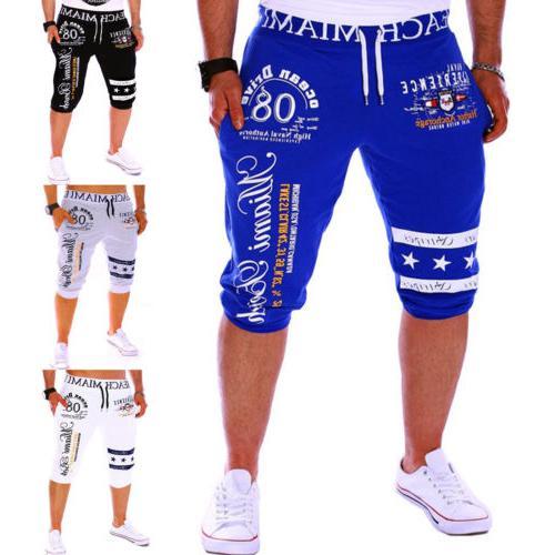 Men Casual Capri pants Sport Summer Shorts Sweatpants Joggin