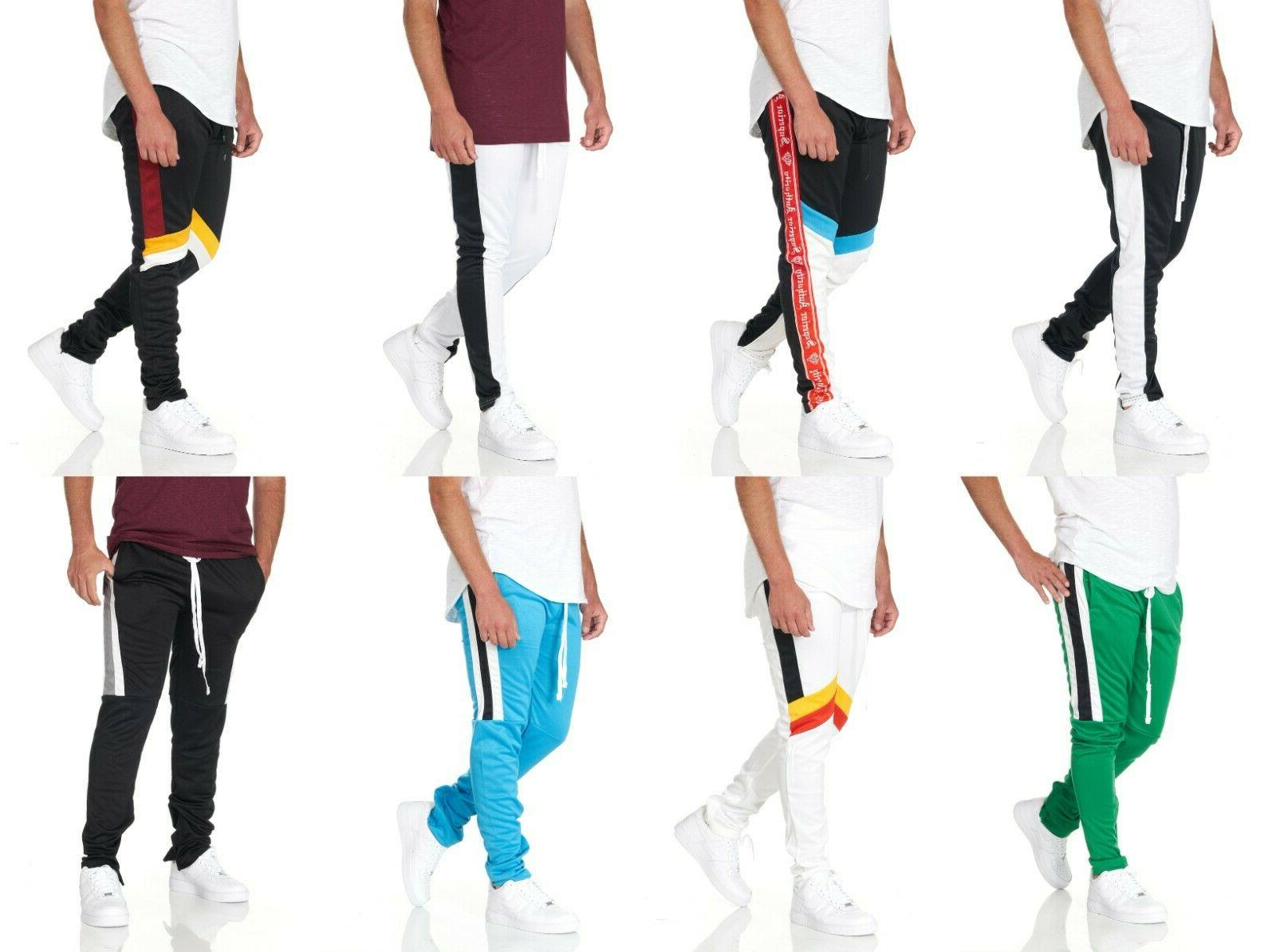 mens slim fit jogger track pants sweatpants