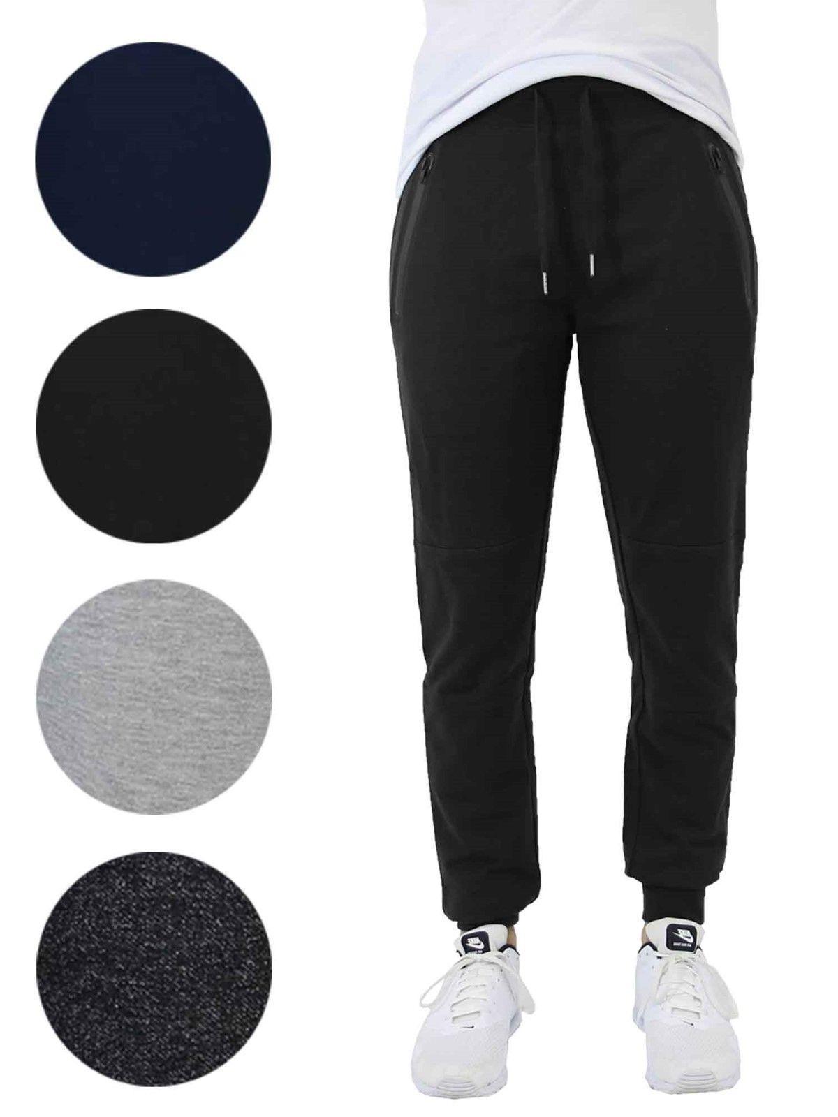 mens slim fit jogger w zipper pockets