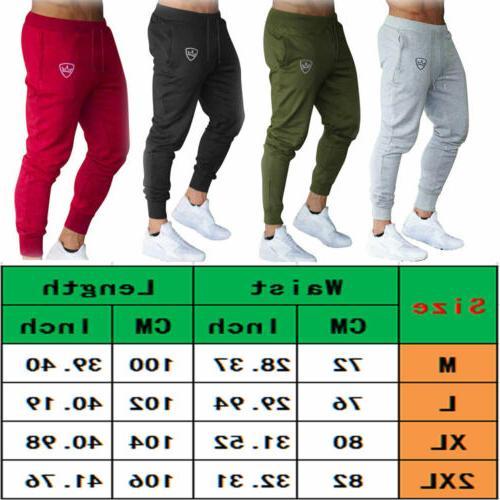 Mens Sport Skinny Joggers Pants