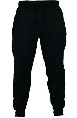 Mens Slim Fit Tracksuit Sport Skinny Joggers Pants Trousers US