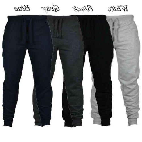 Mens Slim Fit Tracksuit Sport Joggers Sweat US