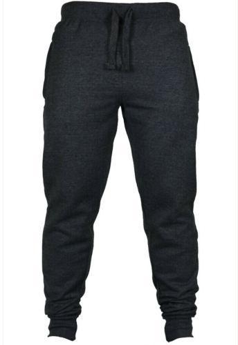 Mens Fit Tracksuit Sport Gym Skinny Joggers Sweat Pants Trousers